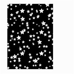 Black And White Starry Pattern Large Garden Flag (Two Sides) by DanaeStudio