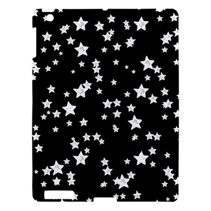 Black And White Starry Pattern Apple iPad 3/4 Hardshell Case