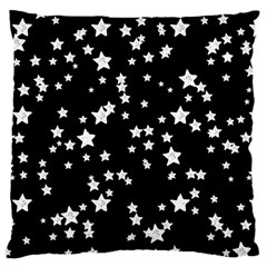 Black And White Starry Pattern Large Cushion Case (one Side) by DanaeStudio