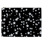 Black And White Starry Pattern Cosmetic Bag (XXL)