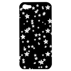 Black And White Starry Pattern Apple Iphone 5 Hardshell Case by DanaeStudio