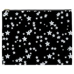 Black And White Starry Pattern Cosmetic Bag (XXXL)