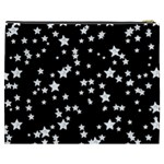 Black And White Starry Pattern Cosmetic Bag (XXXL)  Back