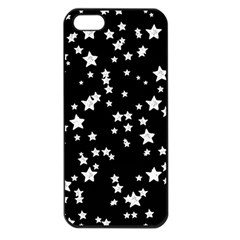 Black And White Starry Pattern Apple Iphone 5 Seamless Case (black) by DanaeStudio