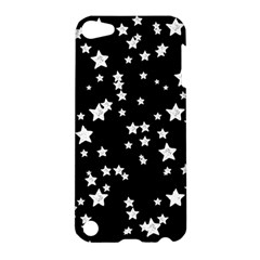 Black And White Starry Pattern Apple Ipod Touch 5 Hardshell Case by DanaeStudio