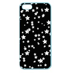 Black And White Starry Pattern Apple Seamless Iphone 5 Case (color) by DanaeStudio