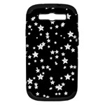 Black And White Starry Pattern Samsung Galaxy S III Hardshell Case (PC+Silicone)
