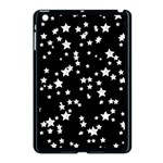 Black And White Starry Pattern Apple iPad Mini Case (Black) Front