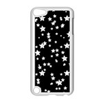 Black And White Starry Pattern Apple iPod Touch 5 Case (White)
