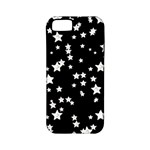 Black And White Starry Pattern Apple iPhone 5 Classic Hardshell Case (PC+Silicone)