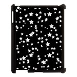 Black And White Starry Pattern Apple iPad 3/4 Case (Black)