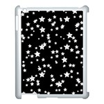 Black And White Starry Pattern Apple iPad 3/4 Case (White)