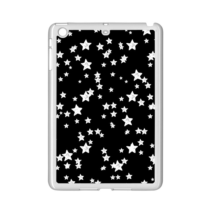 Black And White Starry Pattern iPad Mini 2 Enamel Coated Cases