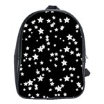 Black And White Starry Pattern School Bags (XL)