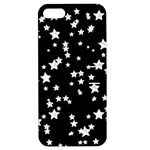 Black And White Starry Pattern Apple iPhone 5 Hardshell Case with Stand
