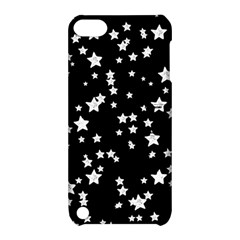 Black And White Starry Pattern Apple Ipod Touch 5 Hardshell Case With Stand by DanaeStudio