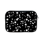 Black And White Starry Pattern Apple iPad Mini Zipper Cases