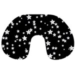 Black And White Starry Pattern Travel Neck Pillows Back