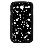 Black And White Starry Pattern Samsung Galaxy Grand DUOS I9082 Case (Black)