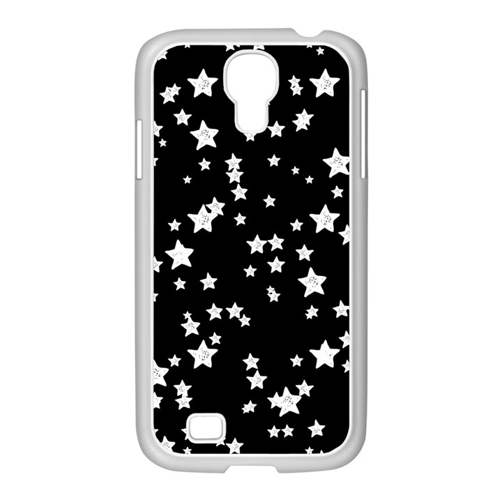 Black And White Starry Pattern Samsung GALAXY S4 I9500/ I9505 Case (White)