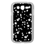 Black And White Starry Pattern Samsung Galaxy Grand DUOS I9082 Case (White)