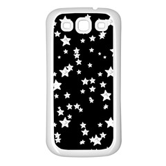 Black And White Starry Pattern Samsung Galaxy S3 Back Case (white) by DanaeStudio