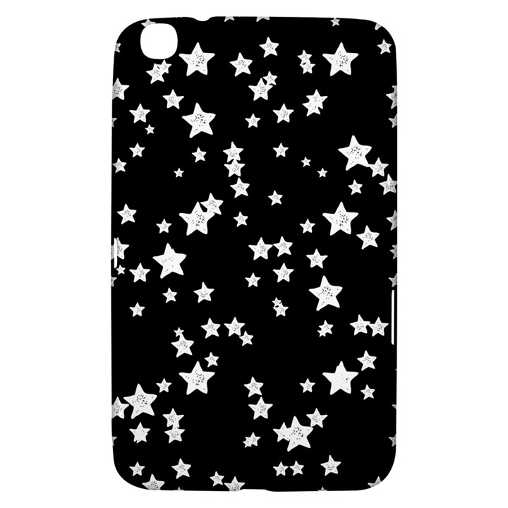 Black And White Starry Pattern Samsung Galaxy Tab 3 (8 ) T3100 Hardshell Case