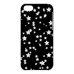 Black And White Starry Pattern Apple Iphone 5c Hardshell Case by DanaeStudio