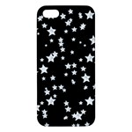 Black And White Starry Pattern iPhone 5S/ SE Premium Hardshell Case