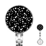 Black And White Starry Pattern Stainless Steel Nurses Watch