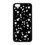 Black And White Starry Pattern Apple iPhone 5C Seamless Case (Black)
