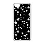 Black And White Starry Pattern Apple iPhone 5C Seamless Case (White)