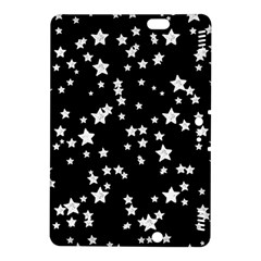 Black And White Starry Pattern Kindle Fire Hdx 8 9  Hardshell Case by DanaeStudio