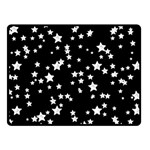 Black And White Starry Pattern Double Sided Fleece Blanket (Small)