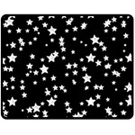 Black And White Starry Pattern Double Sided Fleece Blanket (Medium)