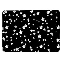 Black And White Starry Pattern Samsung Galaxy Tab Pro 12 2  Flip Case