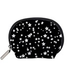 Black And White Starry Pattern Accessory Pouches (Small)
