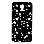 Black And White Starry Pattern Samsung Galaxy S5 Back Case (White) Front