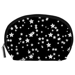 Black And White Starry Pattern Accessory Pouches (large)  by DanaeStudio