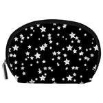 Black And White Starry Pattern Accessory Pouches (Large)
