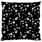 Black And White Starry Pattern Large Flano Cushion Case (One Side)