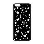Black And White Starry Pattern Apple iPhone 6/6S Black Enamel Case Front