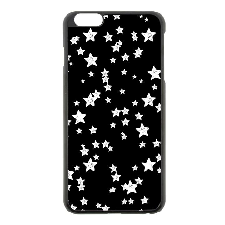 Black And White Starry Pattern Apple iPhone 6 Plus/6S Plus Black Enamel Case