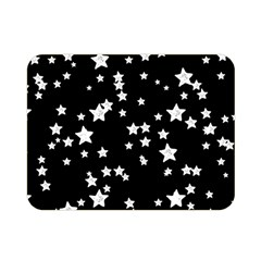 Black And White Starry Pattern Double Sided Flano Blanket (mini)  by DanaeStudio