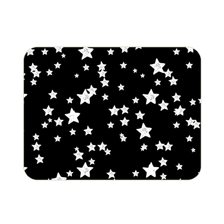 Black And White Starry Pattern Double Sided Flano Blanket (Mini)