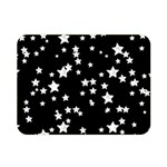 Black And White Starry Pattern Double Sided Flano Blanket (Mini)  35 x27 Blanket Back