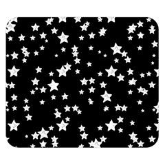 Black And White Starry Pattern Double Sided Flano Blanket (small)  by DanaeStudio