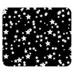 Black And White Starry Pattern Double Sided Flano Blanket (Small)