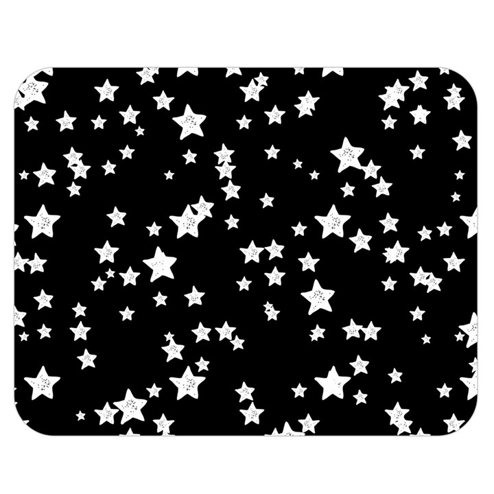 Black And White Starry Pattern Double Sided Flano Blanket (Medium)