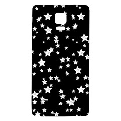 Black And White Starry Pattern Galaxy Note 4 Back Case by DanaeStudio